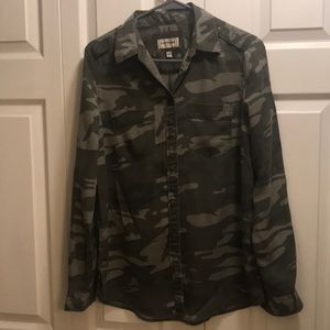 Express camouflage shirt button down